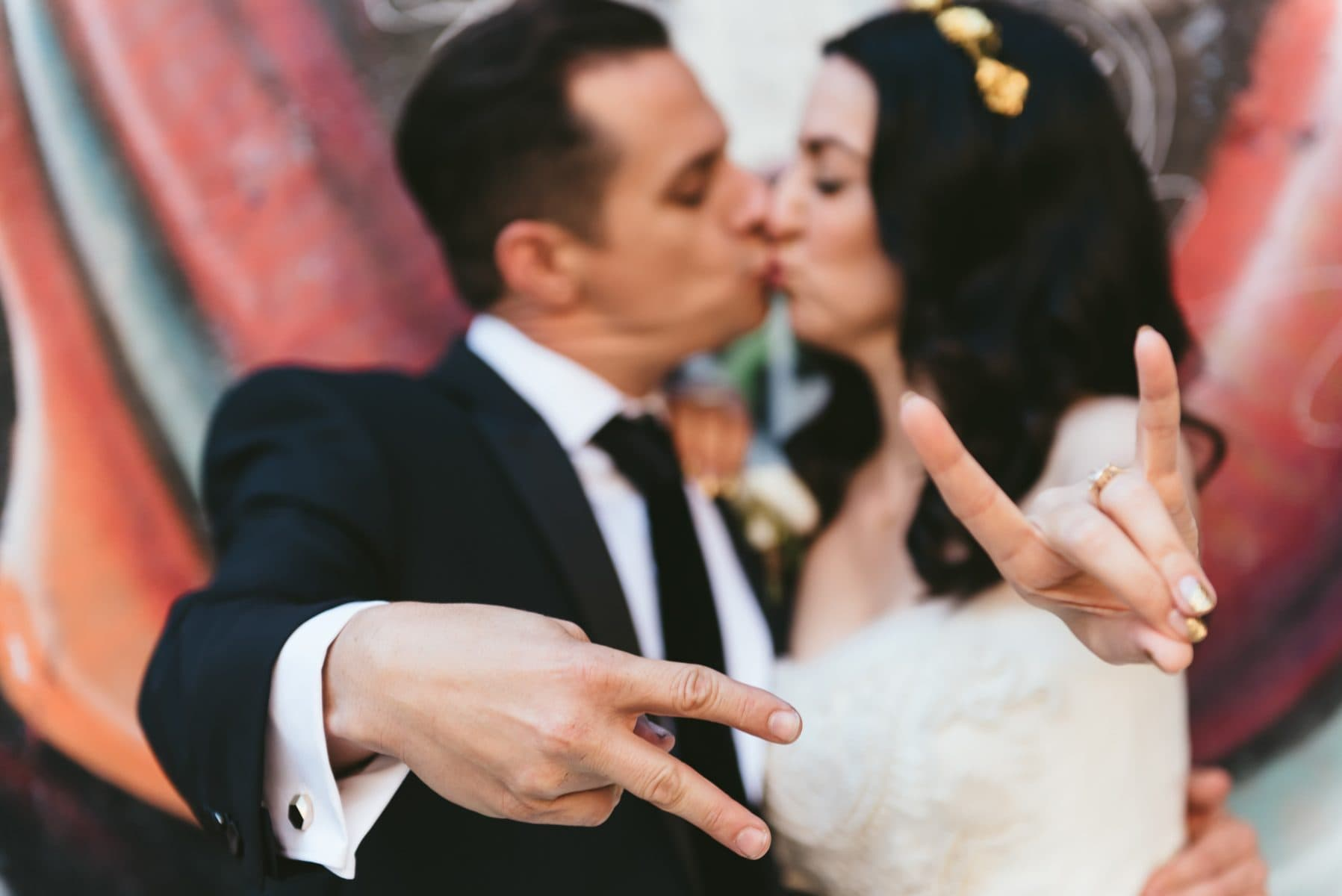 East village wedding photo