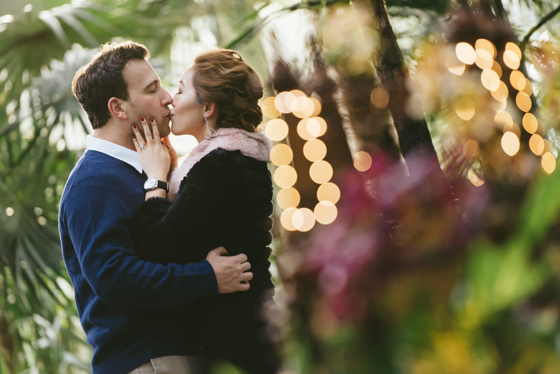 Bronx Botanical Garden engagement photos