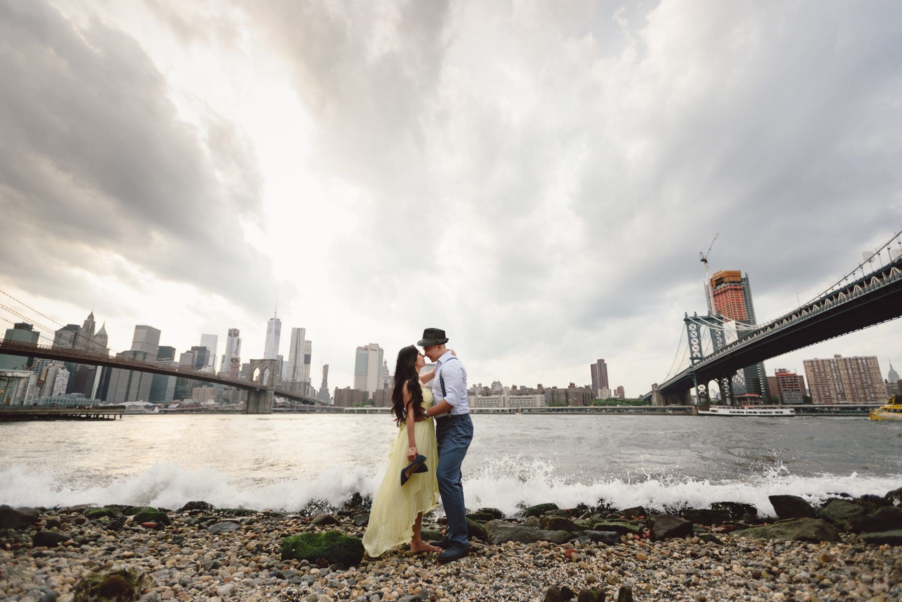 Dumbo waterfront engagement session 001