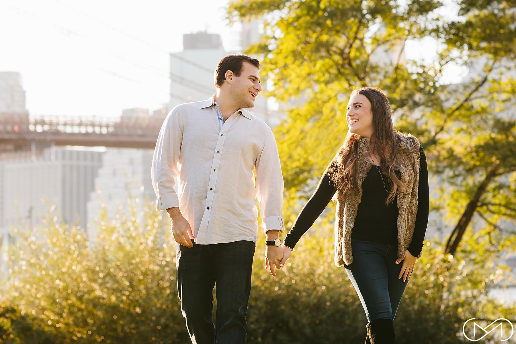 Empire Fulton Ferry Park engagment session
