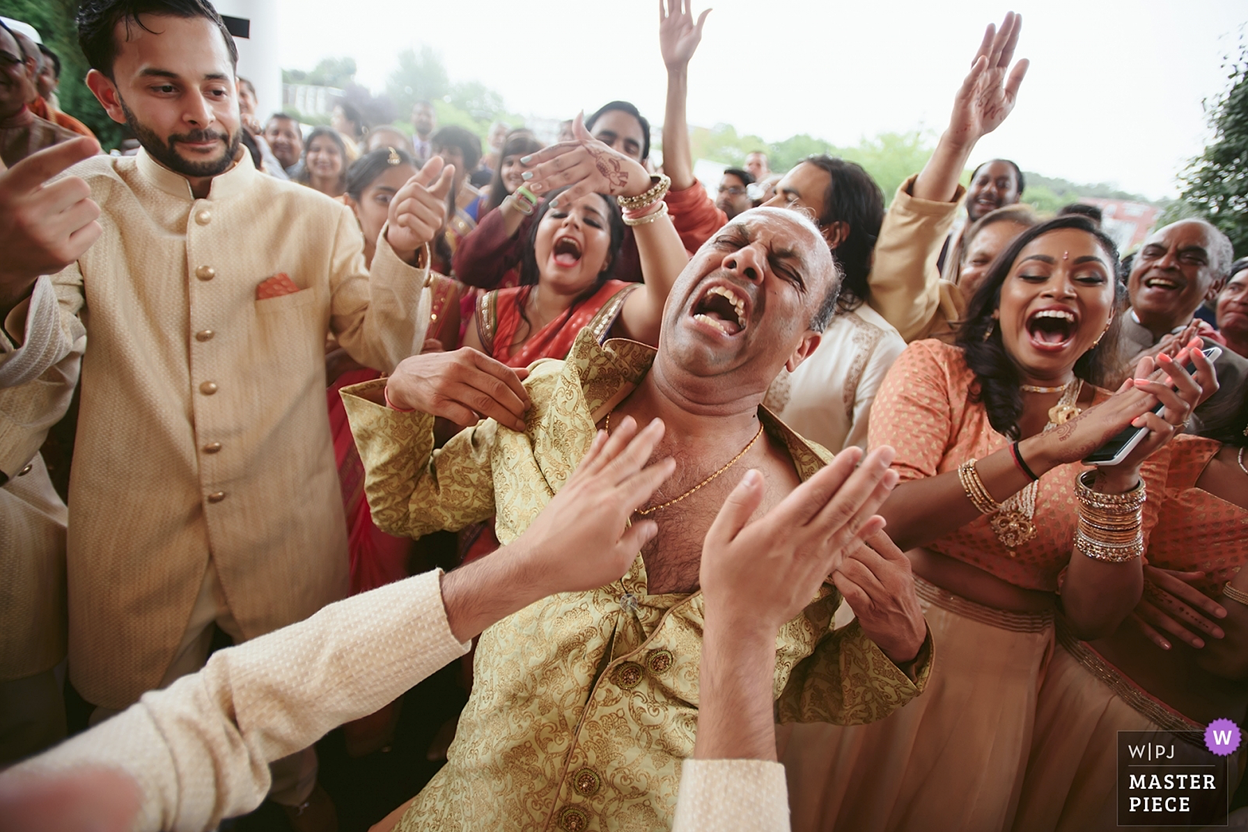 Award winning image from Indian wedding in Hudson Valley - baraat