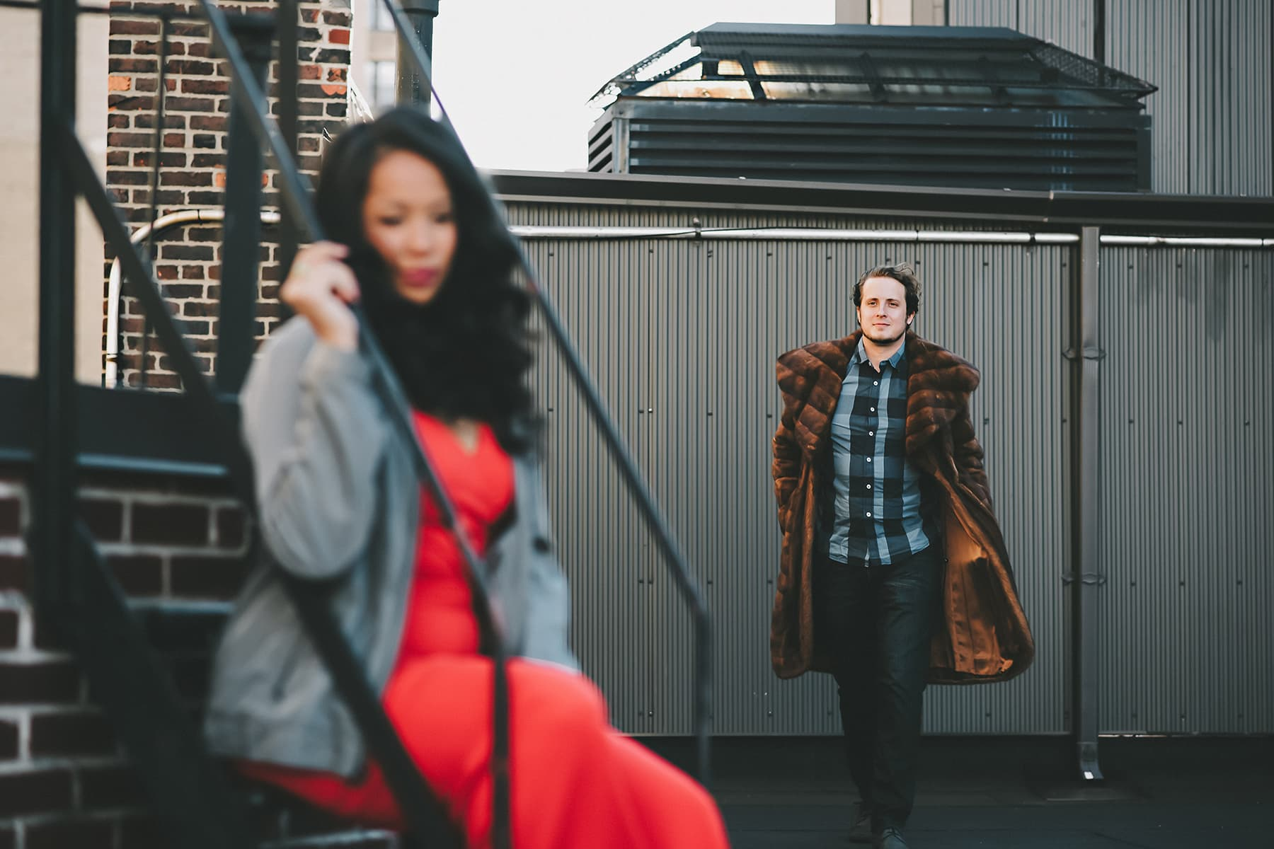 rooftop engagement session Manhattan NYC Soulmates Studio