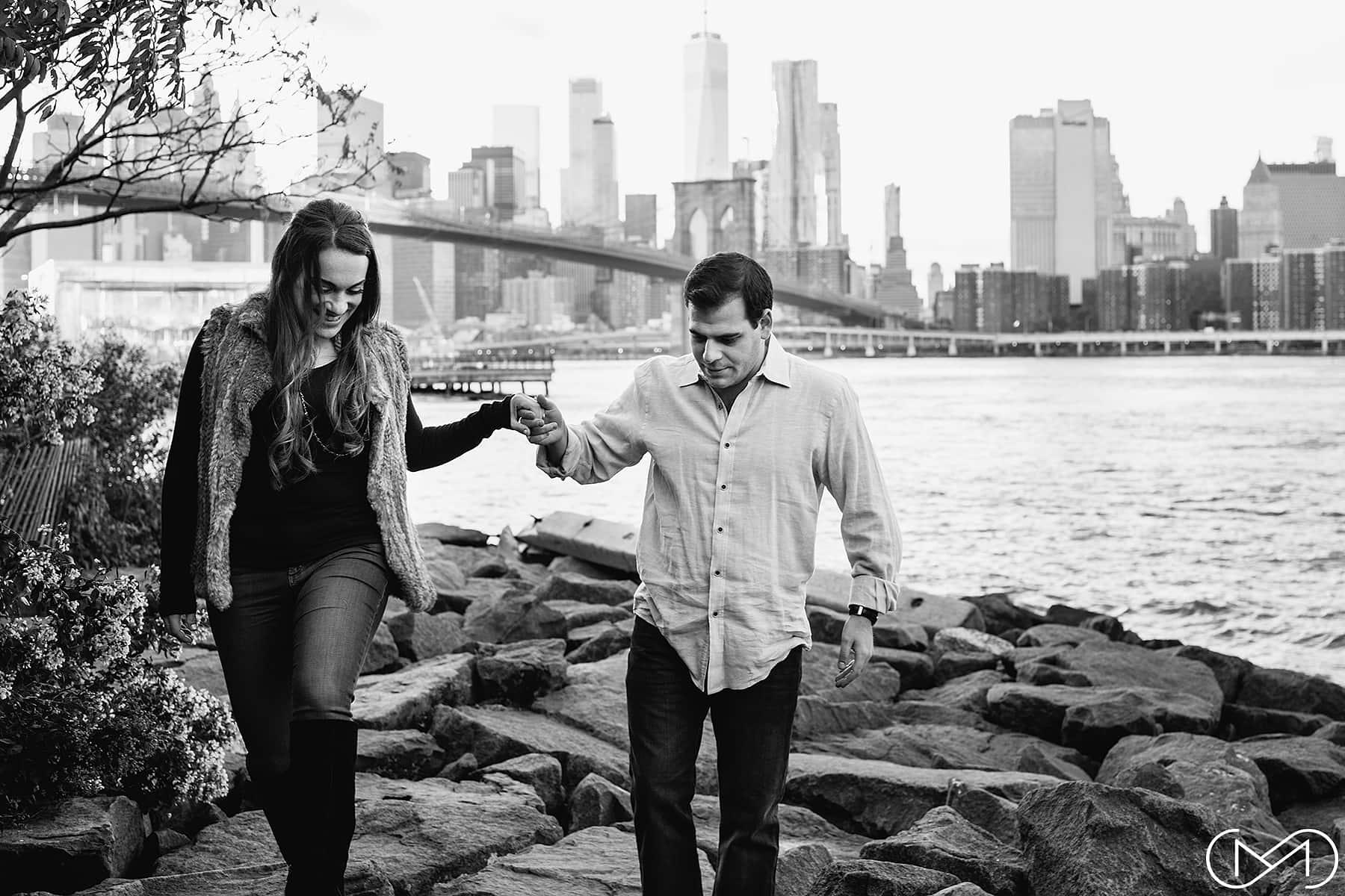 Pebble Beach Brooklyn engagement photos