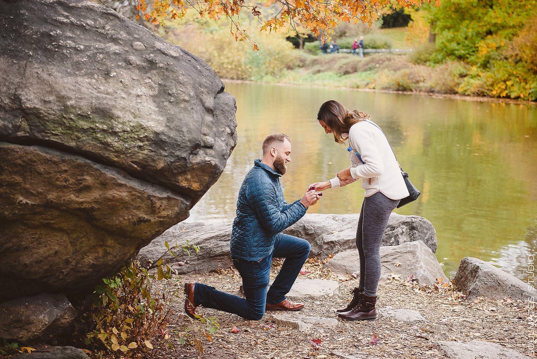 Central Park Surprise Proposal Engagement Session -0001