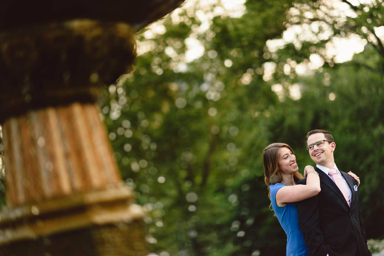 Central Park Engagement portrait