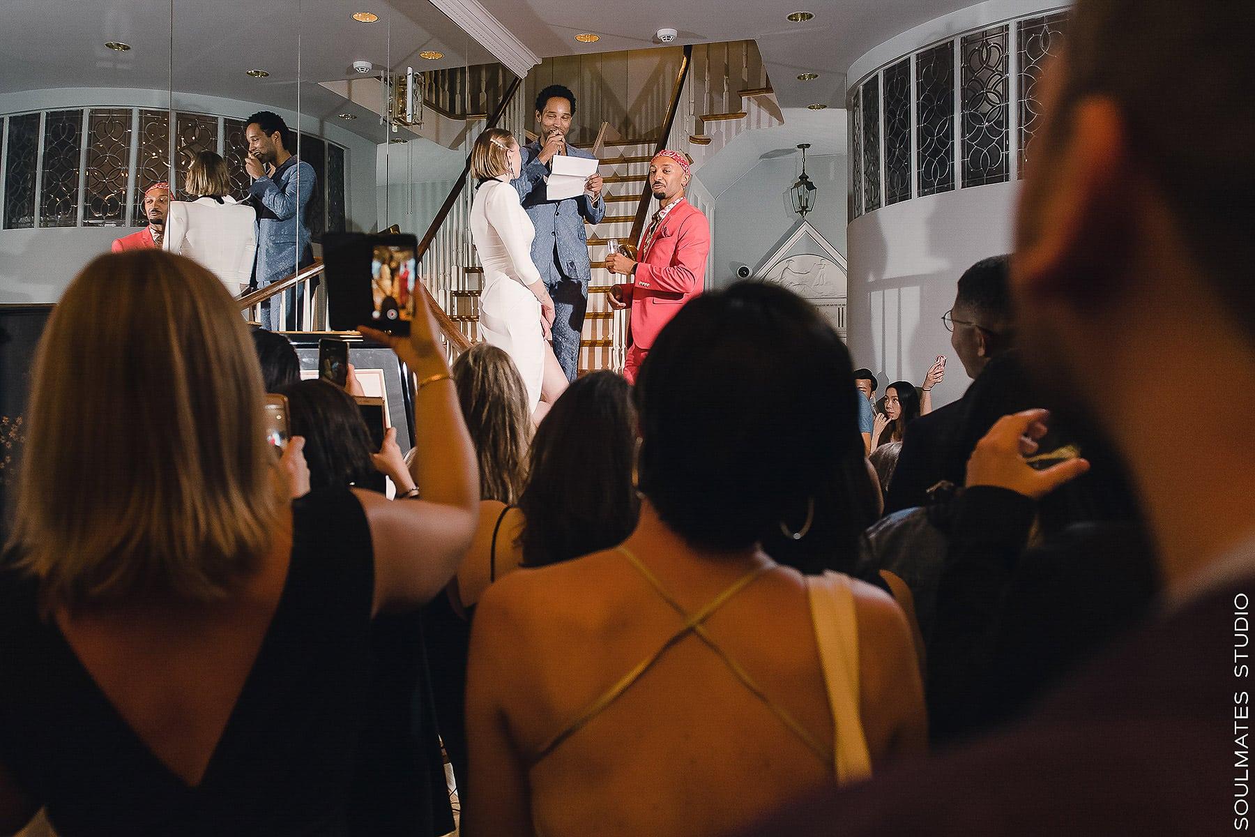 Manhattan Margo Feiden Galleries Elopement Wedding Ceremony