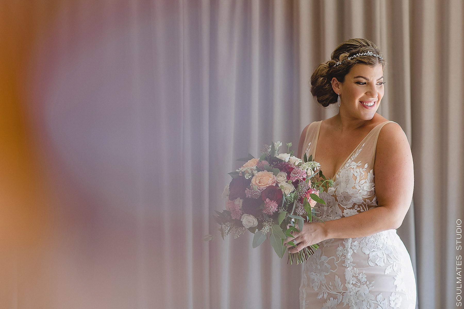 Portrait of the Bride at Jersey City Wedding