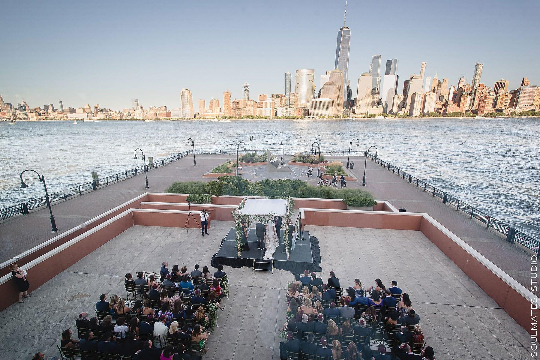 Jersey City Hyatt Regency Jewish Wedding Ceremony by the Water