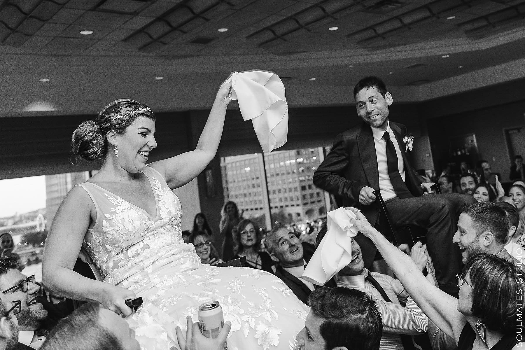 Hora dance at the New Jersey Hyatt Regency Wedding Reception