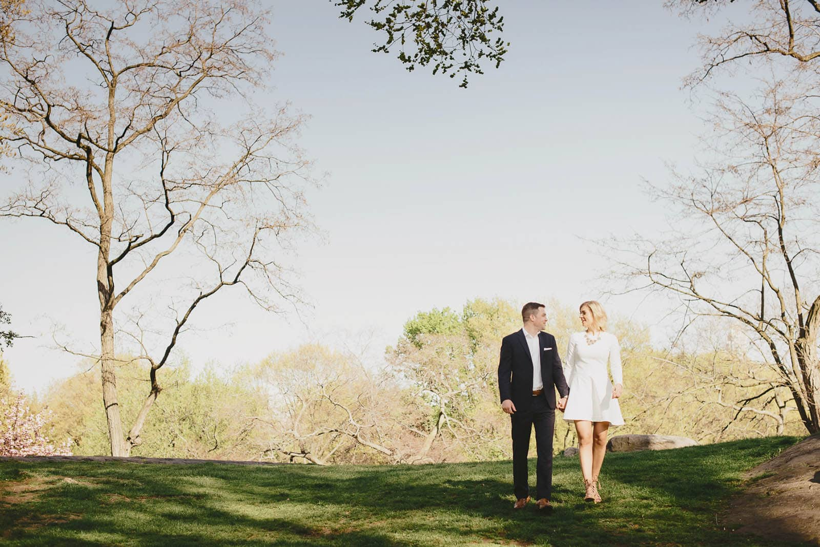 Central Park Elegant Engagement Outfits