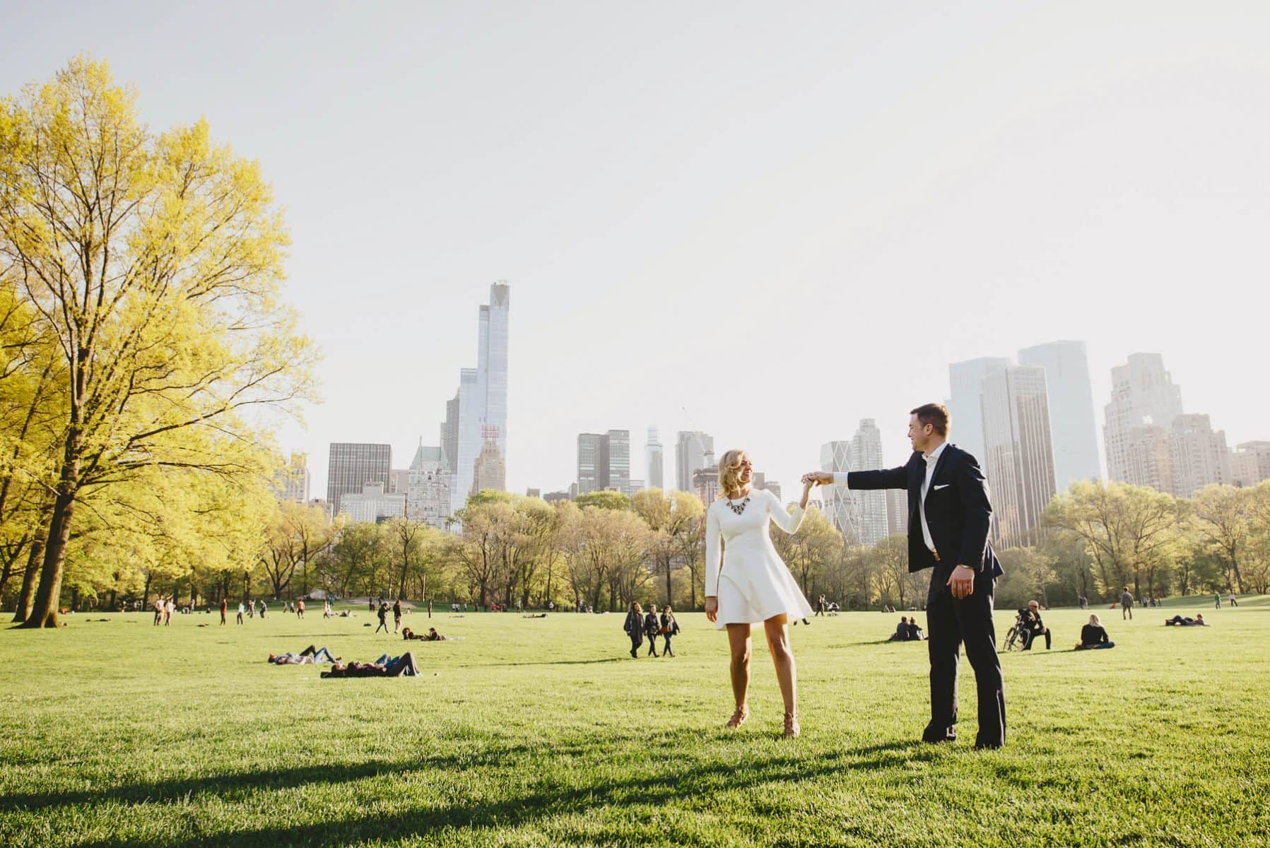 Central Park Fun and Classy Engagement Session