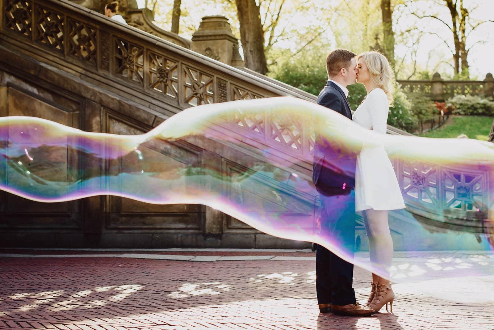 Central Park Unique Elegant Engagement Couple