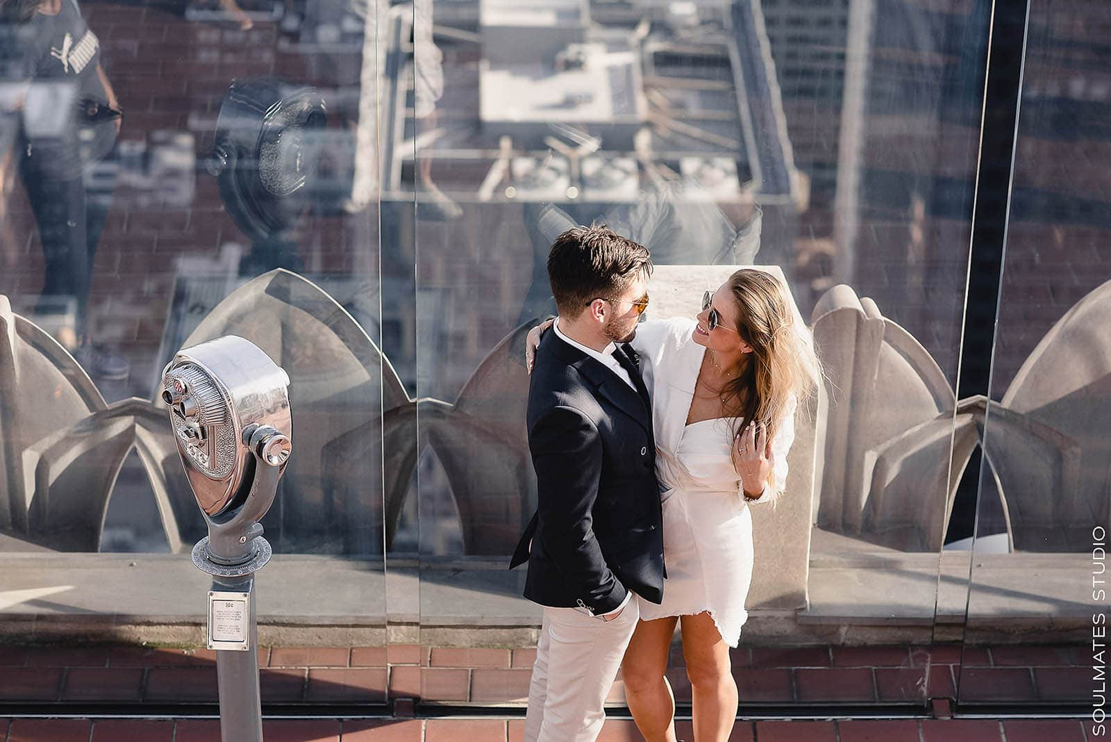 New York Top of the Rock Engagement