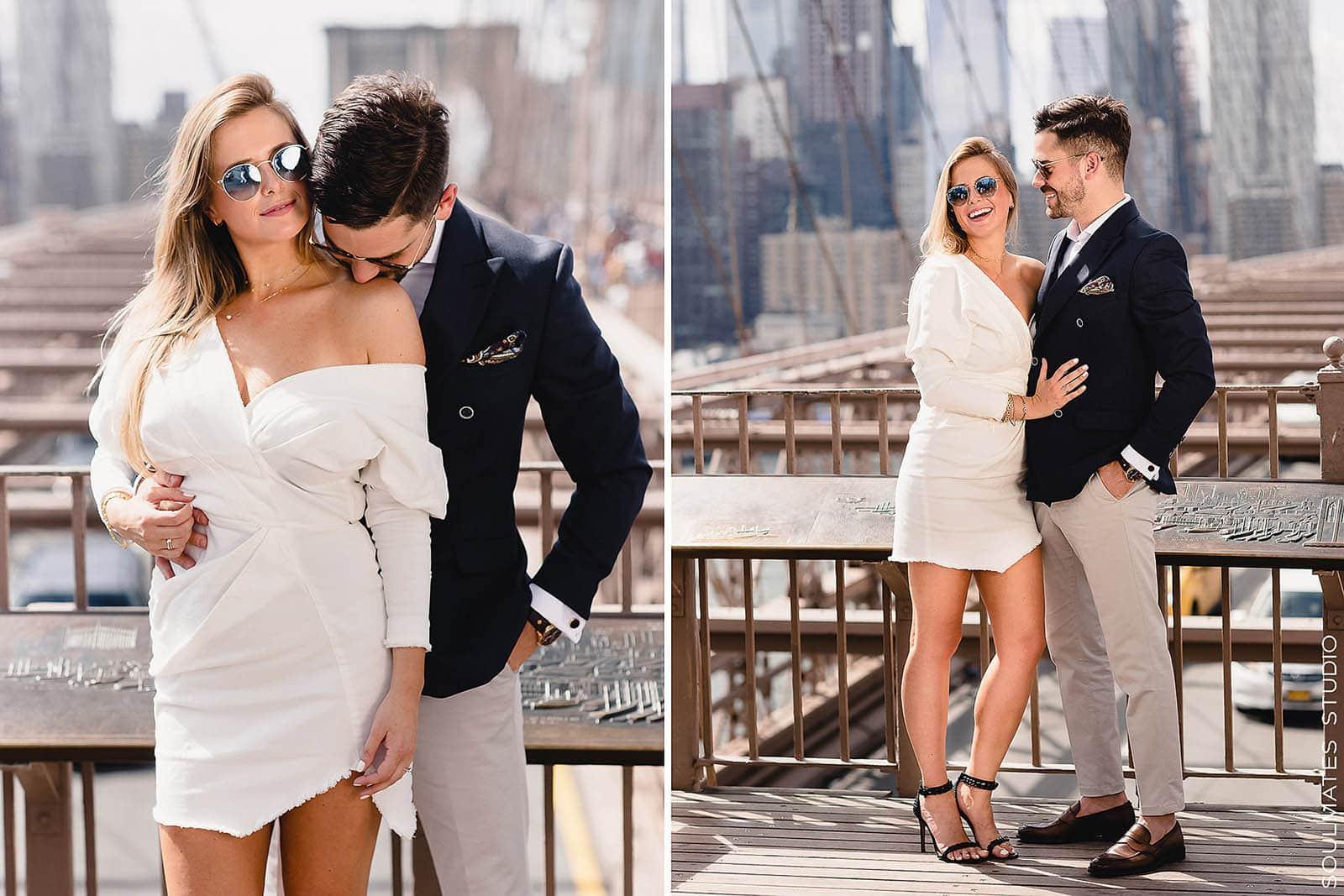 Brooklyn Bridge Iconic Engagement session Location